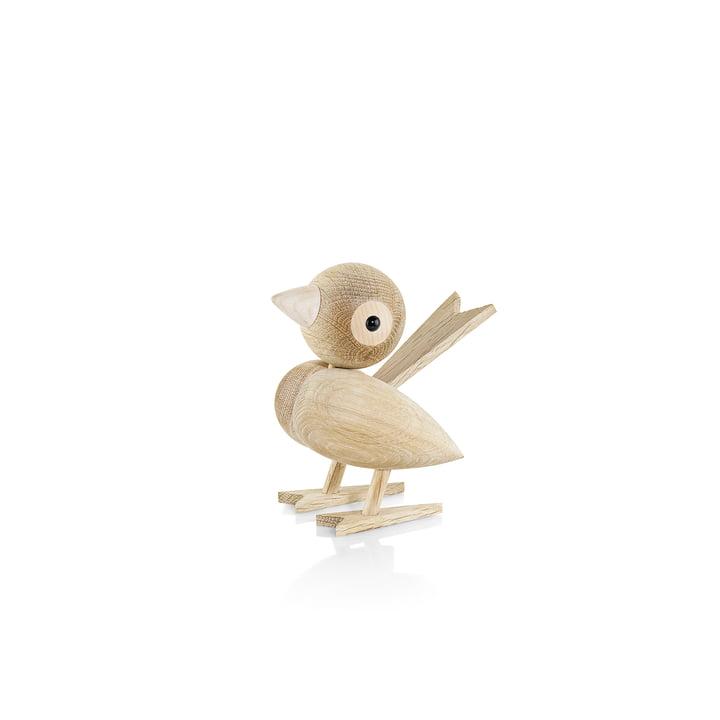 Gunnar Flørning sparrow wooden figure H 8 cm by Lucie Kaas in oak