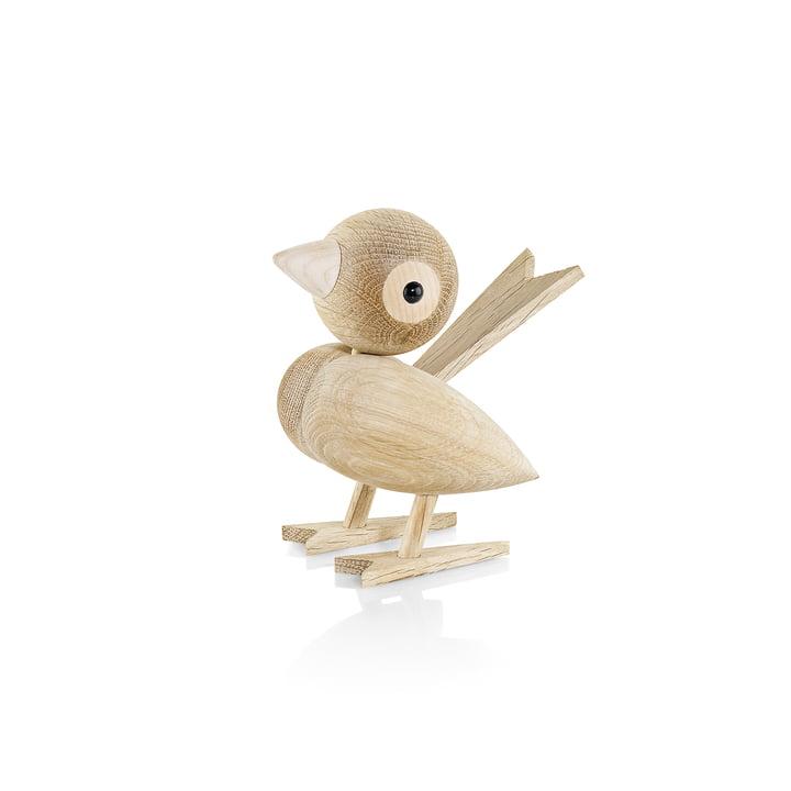 Gunnar Flørning sparrow wooden figure H 12 cm from Lucie Kaas in oak