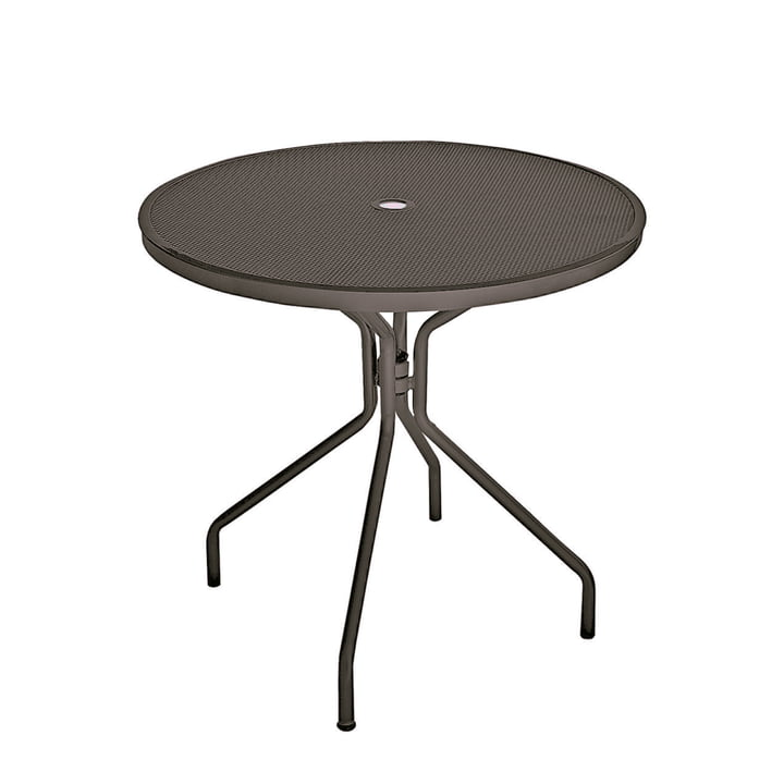 Cambi table Ø 80 cm, antique iron by Emu