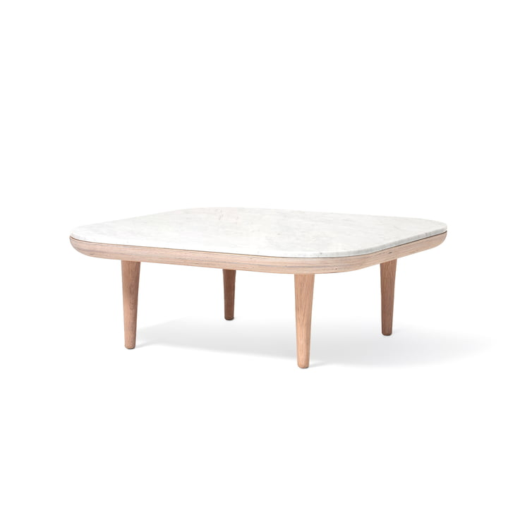 Fly coffee table SC4 80 x 80 cm from & tradition in oak white / marble Bianco Carrara