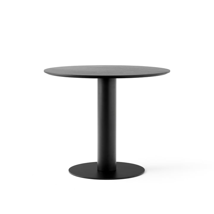 In Between Table SK11 Ø 90 cm from & tradition in oak black lacquered