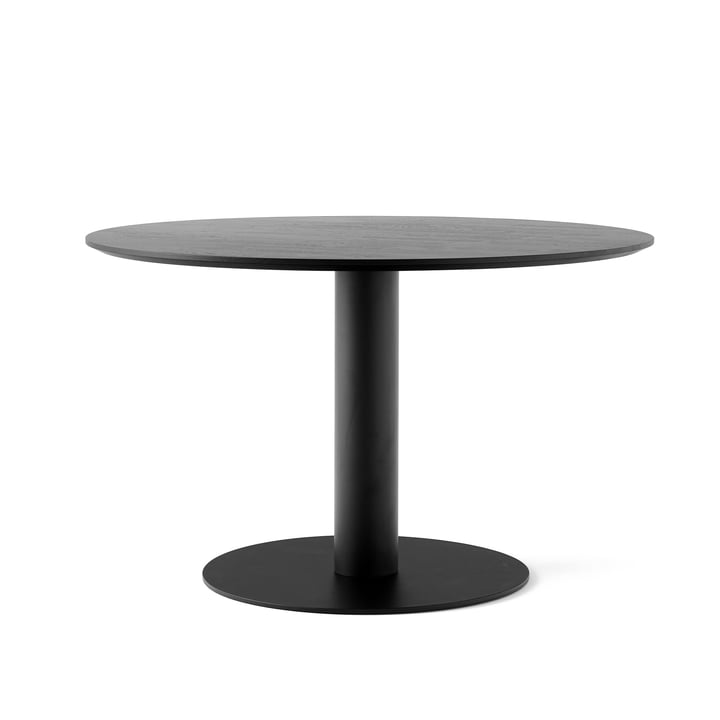 In Between table SK12 Ø 120 cm from & tradition in oak black lacquered