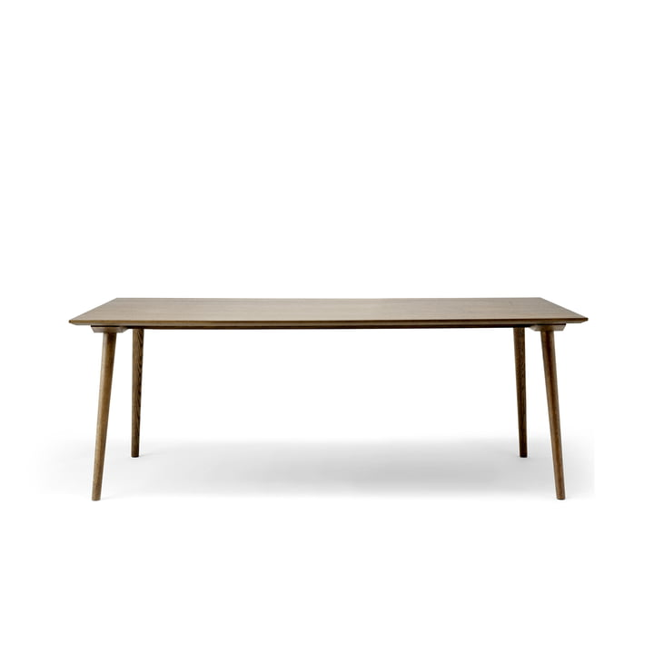 In Between table SK5 90 x 200 cm from & tradition smoked in oak