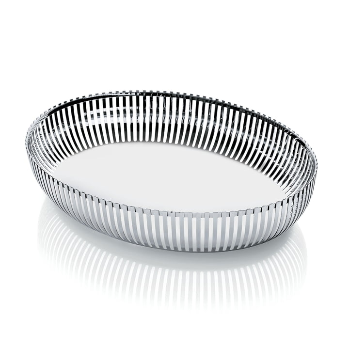 Basket bowl Ø 26 cm oval from Alessi in stainless steel