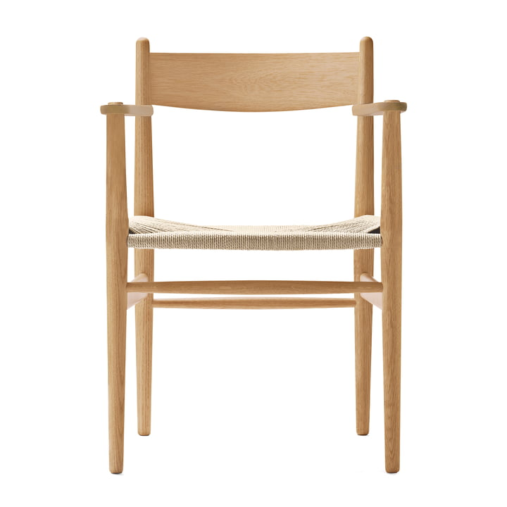 CH37 Chair by Carl Hansen oiled in oak / natural weave