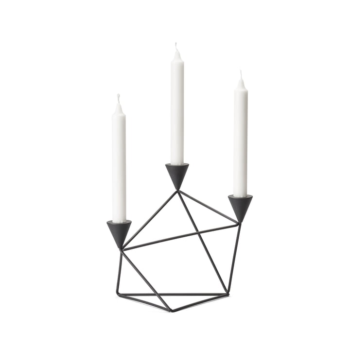 Pythagoras candle holder from Design House Stockholm in black