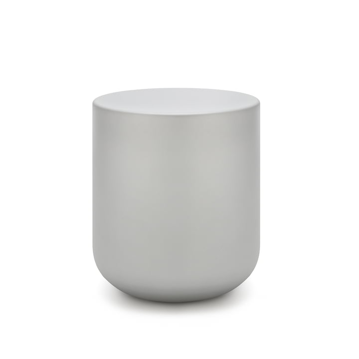157 Coffee table Ø 45 x H 50 cm freestyle in white aluminium (RAL 9006)