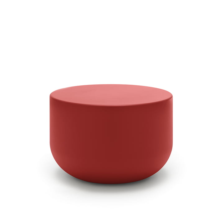 157 Coffee table, Ø 60 x H 40 cm freestyle in coral red (RAL 3016)