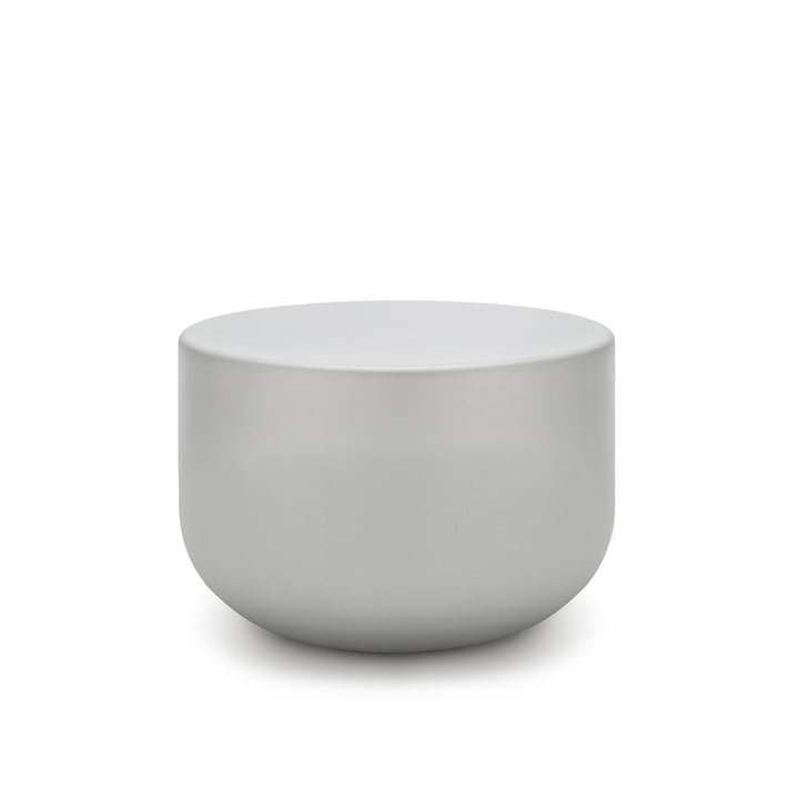 157 Coffee table, Ø 60 x H 40 cm freestyle in white aluminium (RAL 9006)
