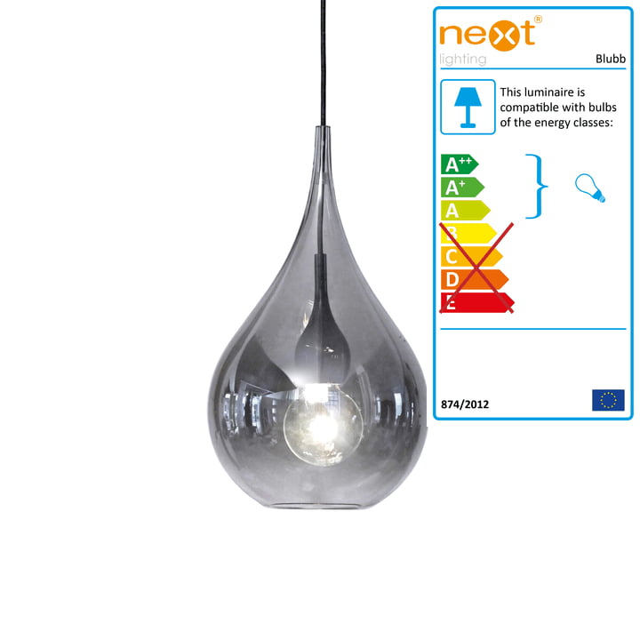 Blubb 2 pendant lamp from Next Home in chrome / black