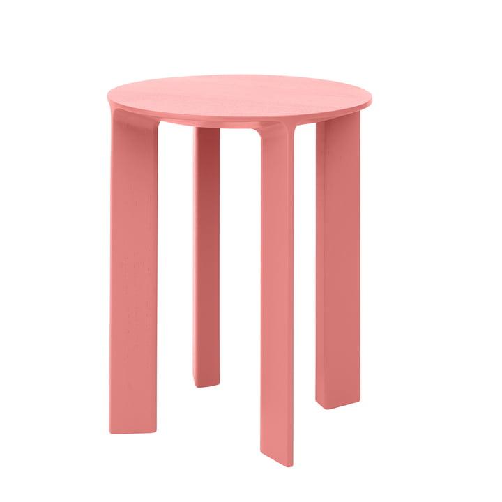 Hans Stocker & side table wood by Schönbuch in flamingo pink