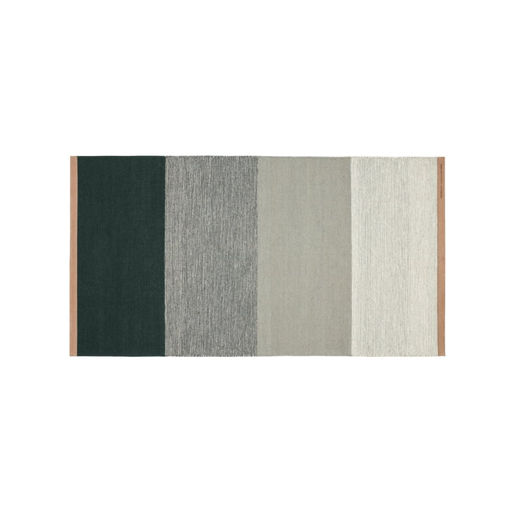 Fields carpet 70 x 130 cm from Design House Stockholm in green / grey
