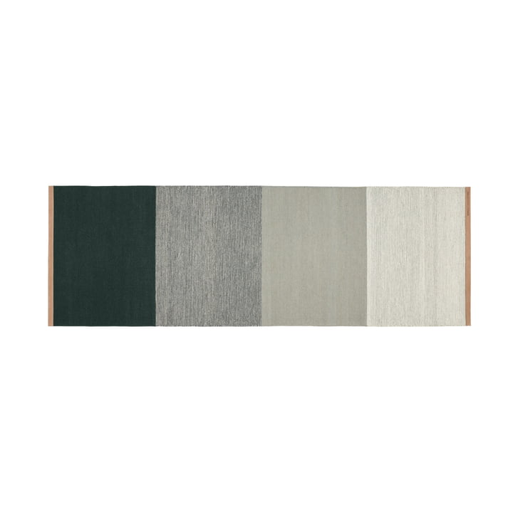 Fields carpet 80 x 250 cm from Design House Stockholm in green / grey