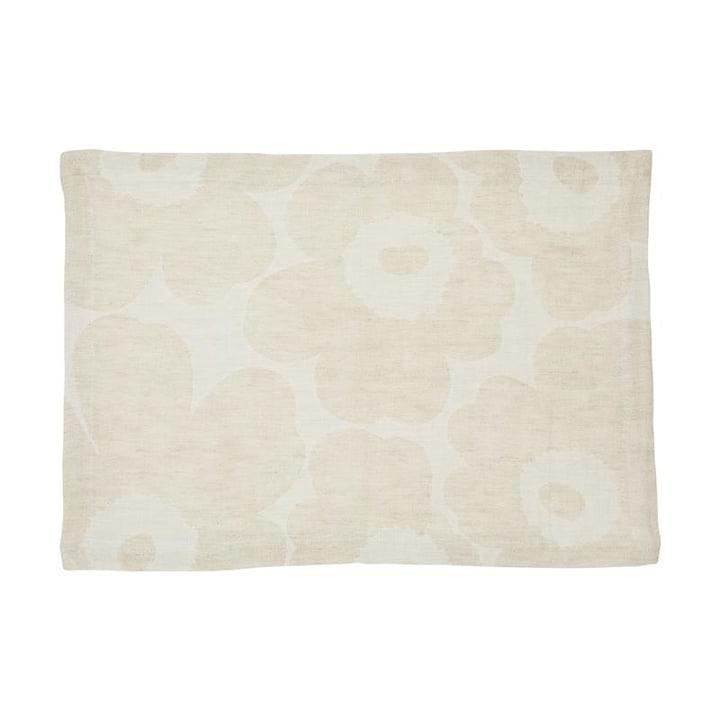 Pieni Unikko Placemat woven, beige / white from Marimekko