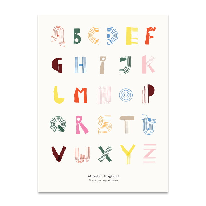 Alphabet Spaghetti 50 x 70 cm from Paper Collective