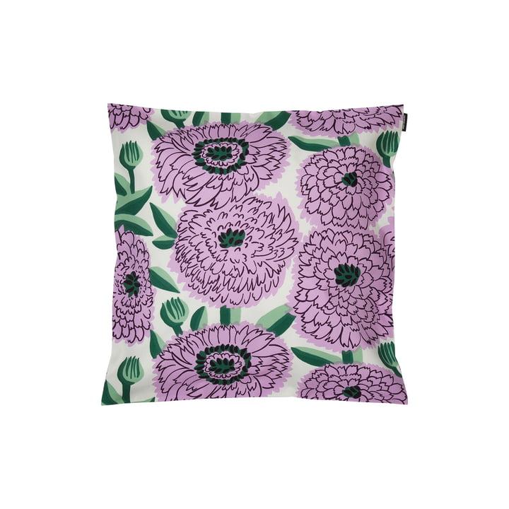 Pieni Primavera cushion cover 45 x 45 cm, white / purple / green by Marimekko