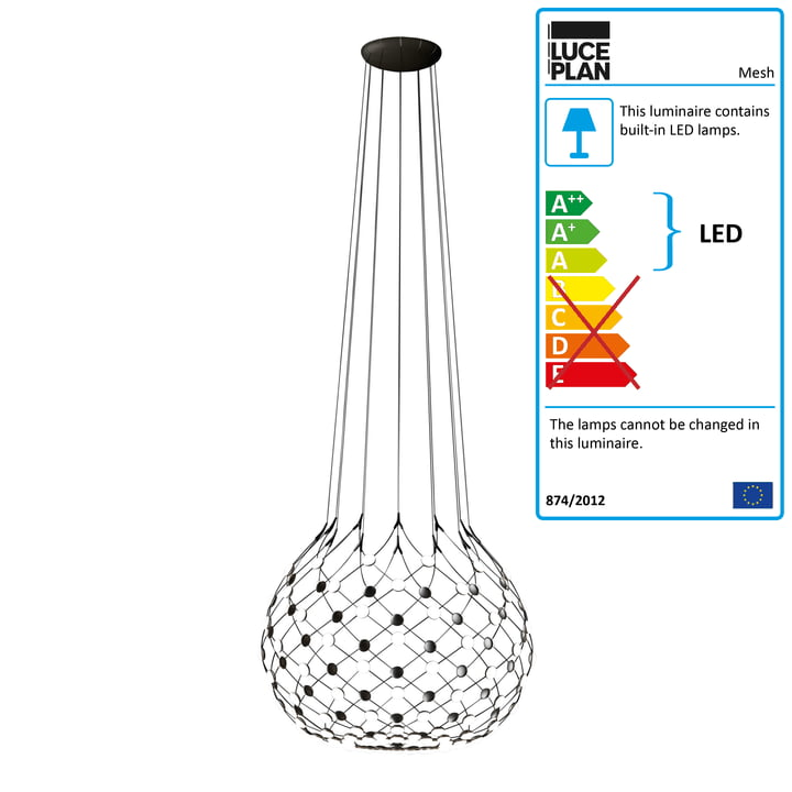 Mesh pendant luminaire from Luceplan Ø 100 cm / cable length 200 cm