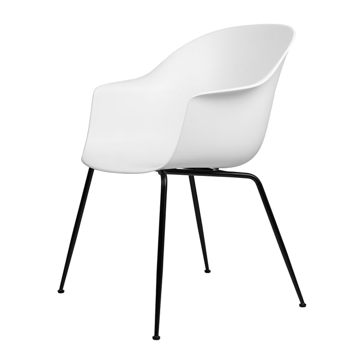 Bat Dining chair from Gubi in base black / pure white