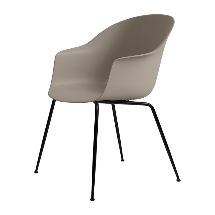 Bat Dining Chair by Gubi in Base black / new beige