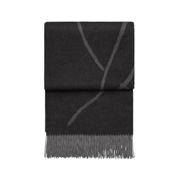 Wildflower blanket, light grey / dark grey by Elvang