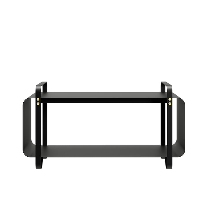 Ninne bench, black by Eldvarm