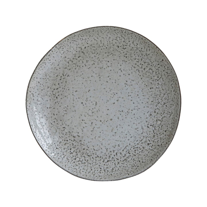 Deep plate Rustic, Ø 25 x H 5 cm, grey-blue by House Doctor