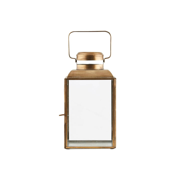 Vintage lantern H 26 cm, brass by House Doctor