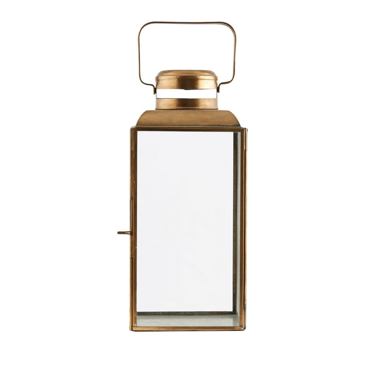 Vintage lantern H 30 cm, brass by House Doctor