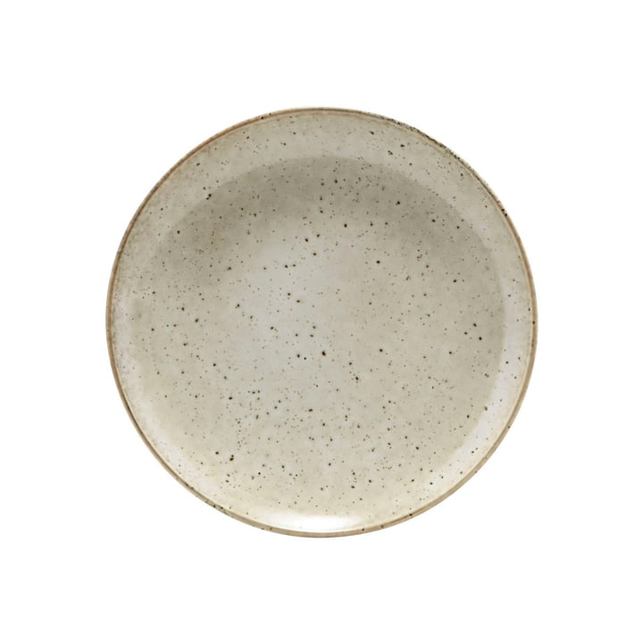 Lake earthenware plate Ø 21,4 cm, grey by House Doctor