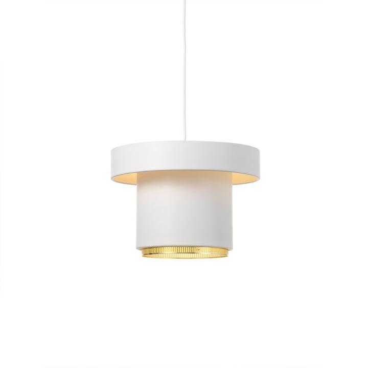 A201 pendant lamp from Artek in brass / white