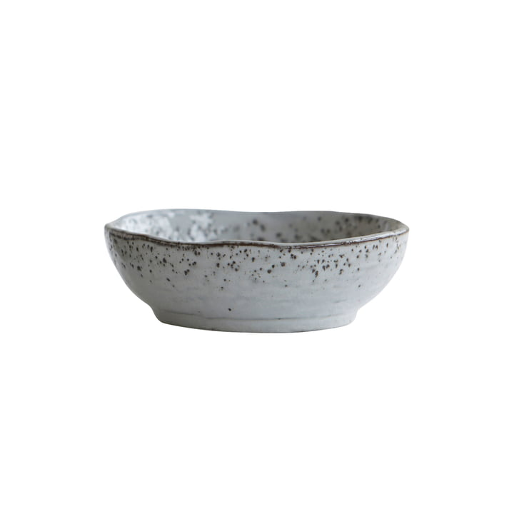 Rustic bowl Ø 14 x H 4,5 cm from House Doctor in grey-blue