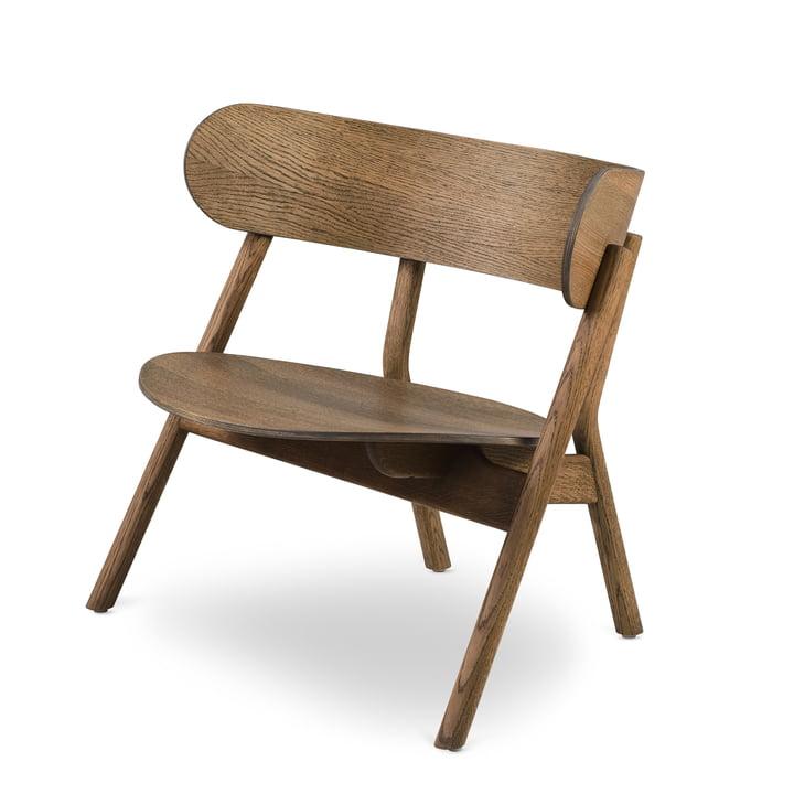 Oaki Lounge Chair, smoked oak by Northern