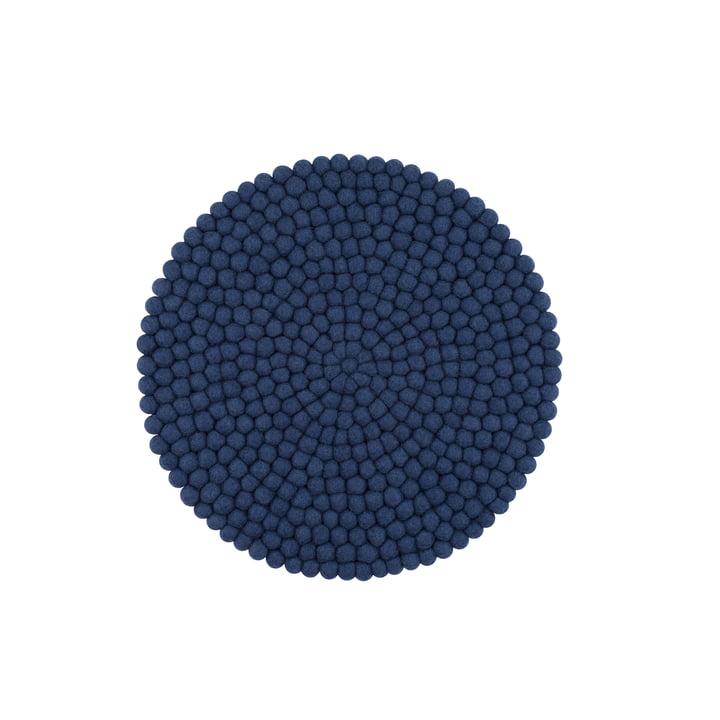 Alva seat cover Ø 36 cm from myfelt in dark blue