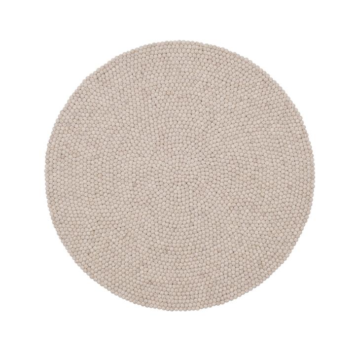 Béla felt ball carpet Ø 140 cm by myfelt in beige mottled