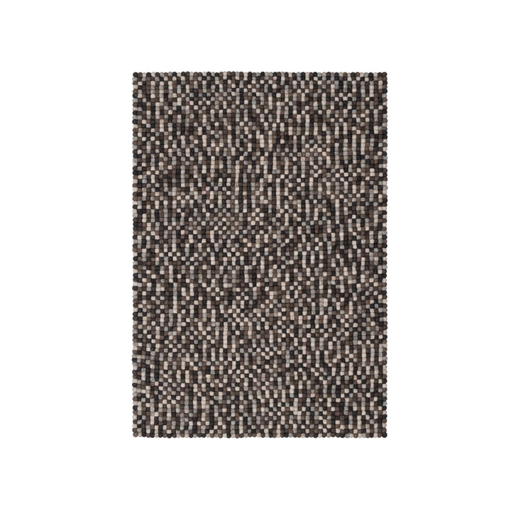 Néla felt ball carpet 90 x 130 cm by myfelt