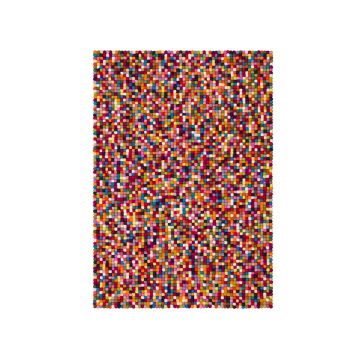 Lotte felt ball carpet 90 x 130 cm by myfelt