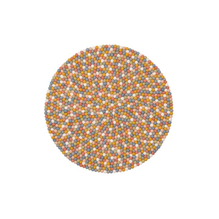 Read felt ball carpet Ø 70 cm from myfelt