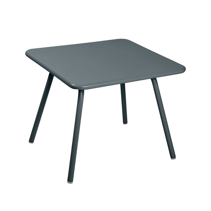 Luxembourg Kid Children's table, 57 x 57 cm, thundery grey by Fermob