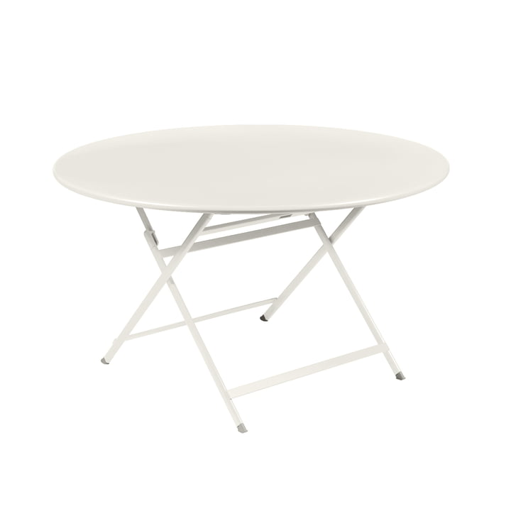 Caractére Folding table. Ø 128 cm, clay grey from Fermob
