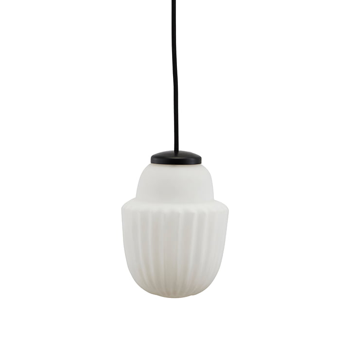 Acorn pendant lamp Ø 13,5 x H 18,7 cm from House Doctor in white
