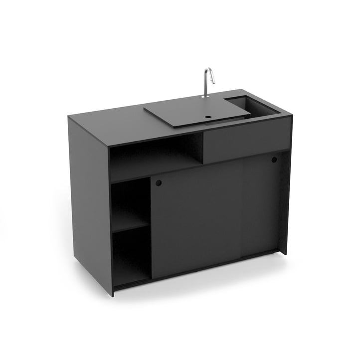 Ticino Kitchen, Water, anthracite from Conmoto