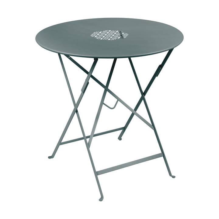Lorette folding table Ø 77 cm, storm gray by Fermob