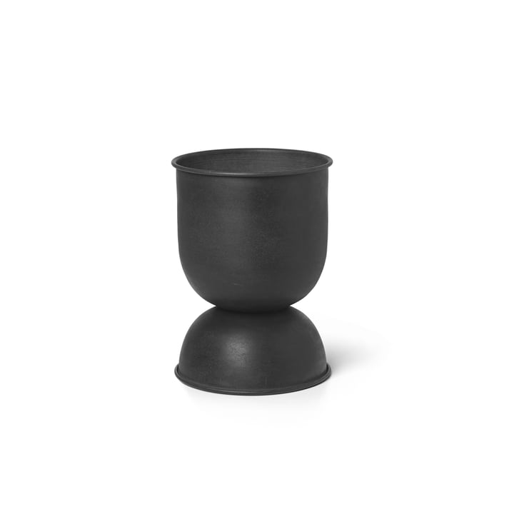 ferm Living - Hourglass flower pot extra-small, Ø 21 x H 30 cm, black / dark grey