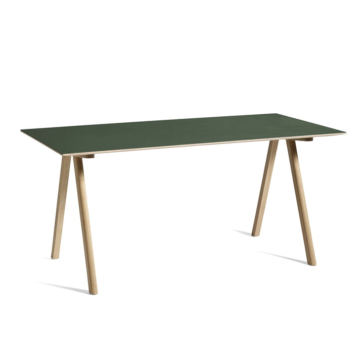 Copenhague CPH10 table, 160 x 80 cm, oak / green from Hay
