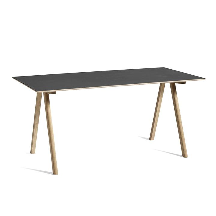 Copenhague CPH10 table, 160 x 80 cm, oak / black from Hay