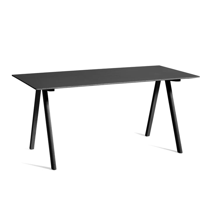 Copenhague CPH10 table, 160 x 80 cm, oak black stained / black from Hay