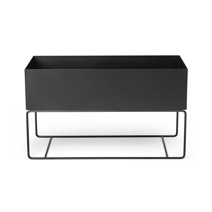 Plant Box large, black by ferm Living