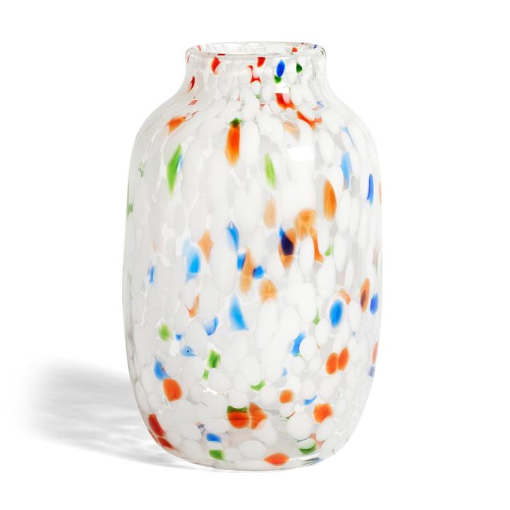 Splash Vase L, Ø 18.7 x H 27 cm, White Dot by Hay