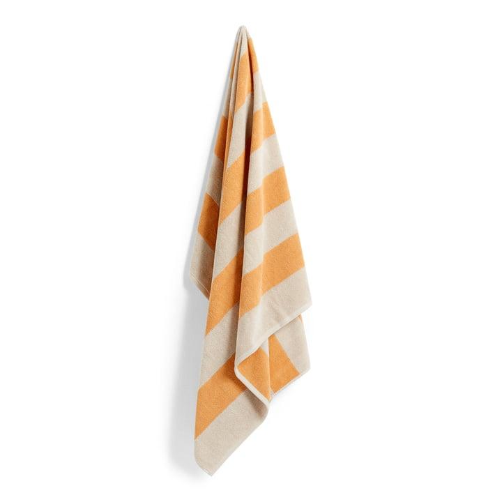 Frotté Stripe Bath towel, 100 x 150 cm, warm yellow from Hay