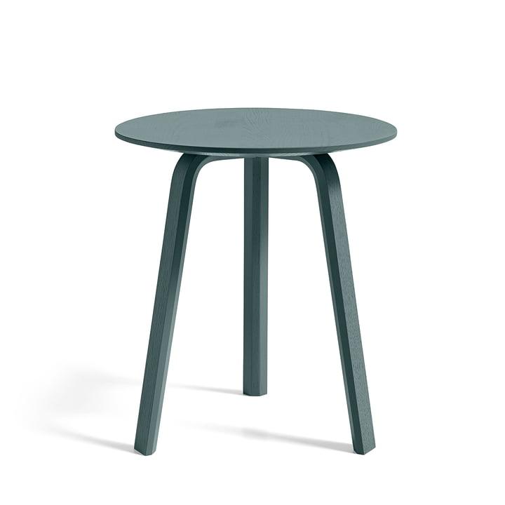 Bella Side table Ø 45 cm / H 49 cm, oak brunswick green stained by Hay